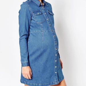 Maternity Denim Dress